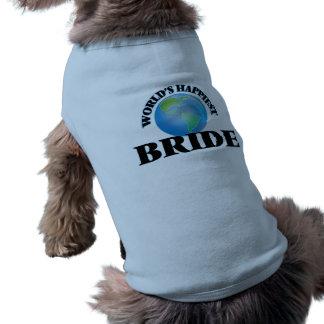 World's Happiest Bride Dog T Shirt