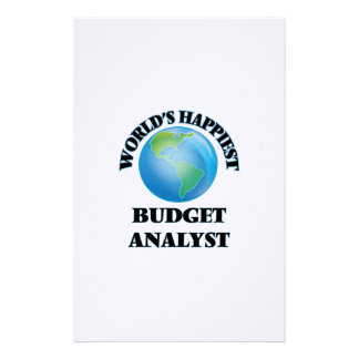 World's Happiest Budget Analyst Stationery