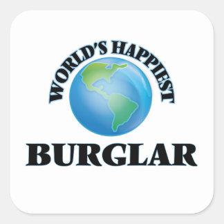 World's Happiest Burglar Square Sticker