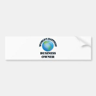 World's Happiest Business Owner Bumper Sticker