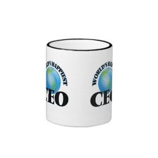 World's Happiest Ceo Ringer Coffee Mug