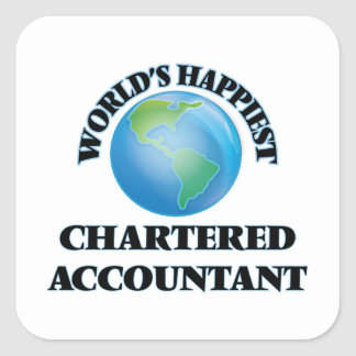 World's Happiest Chartered Accountant Square Sticker
