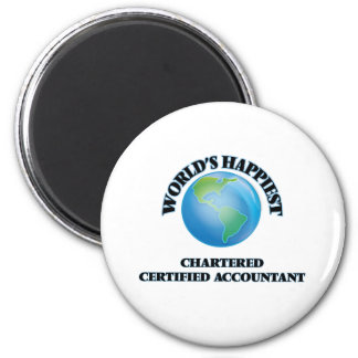 World's Happiest Chartered Certified Accountant 2 Inch Round Magnet
