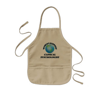 World's Happiest Clinical Psychologist Kids Apron