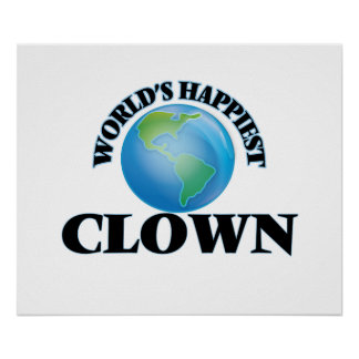 World's Happiest Clown Poster
