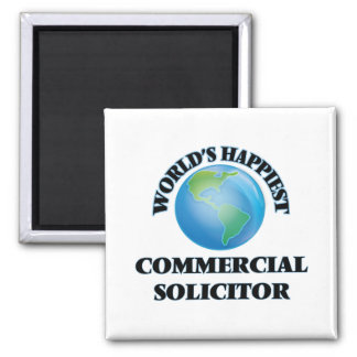 World's Happiest Commercial Solicitor 2 Inch Square Magnet
