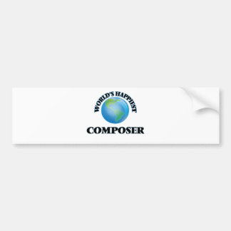 World's Happiest Composer Car Bumper Sticker