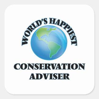 World's Happiest Conservation Adviser Square Sticker