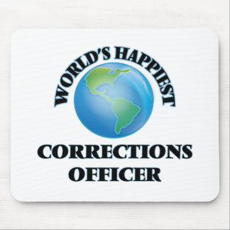 World's Happiest Corrections Officer Mouse Pad