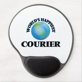 World's Happiest Courier Gel Mouse Pad