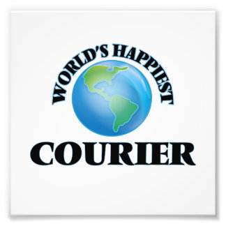 World's Happiest Courier Photo Print