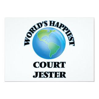 World's Happiest Court Jester 5x7 Paper Invitation Card