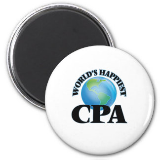 World's Happiest Cpa 2 Inch Round Magnet
