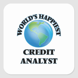World's Happiest Credit Analyst Square Sticker