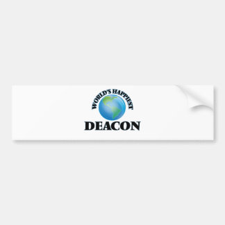 World's Happiest Deacon Car Bumper Sticker