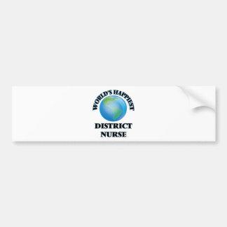 World's Happiest District Nurse Bumper Sticker