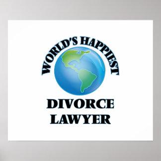 World's Happiest Divorce Lawyer Poster