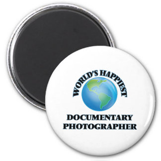 World's Happiest Documentary Photographer 2 Inch Round Magnet