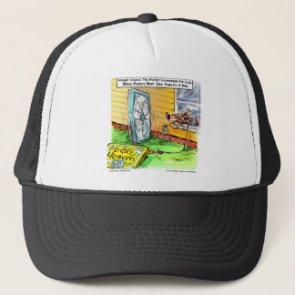 World's Happiest Dog Funny Gifts Tees Mugs Etc Trucker Hat