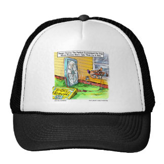 Worlds Happiest Dog Funny Tees Mugs & Gifts Mesh Hat