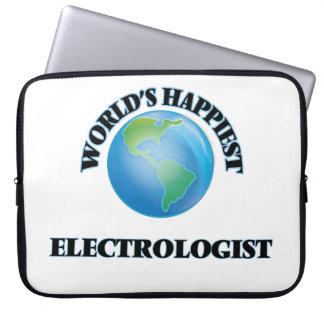 World's Happiest Electrologist Computer Sleeve
