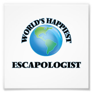 World's Happiest Escapologist Photo Print