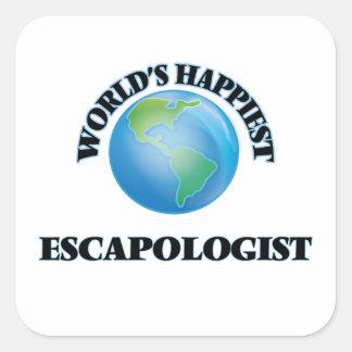 World's Happiest Escapologist Square Sticker