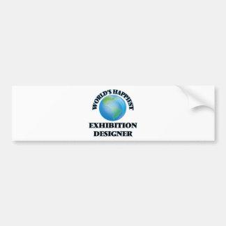 World's Happiest Exhibition Designer Car Bumper Sticker