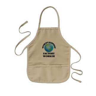 World's Happiest Factory Worker Kids' Apron