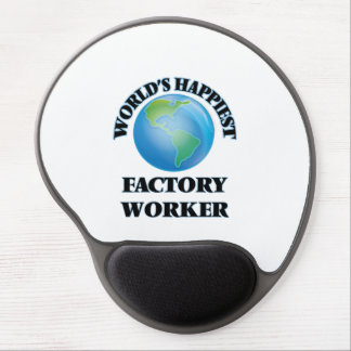 World's Happiest Factory Worker Gel Mouse Pad