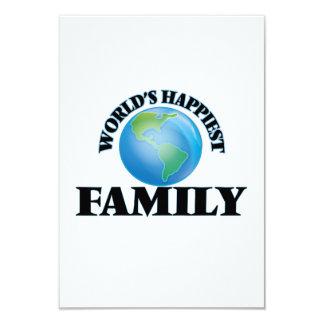 World's Happiest Family 3.5x5 Paper Invitation Card