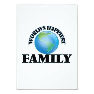 World's Happiest Family 5x7 Paper Invitation Card
