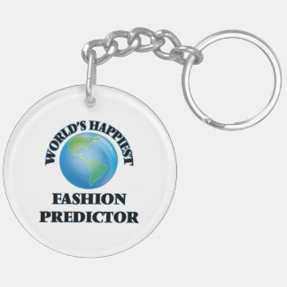World's Happiest Fashion Predictor Double-Sided Round Acrylic Keychain