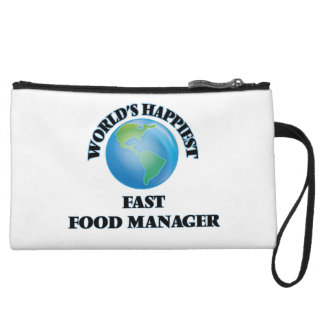 World's Happiest Fast Food Manager Wristlet Purse
