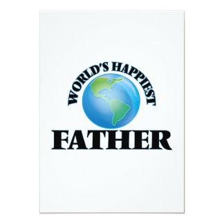 World's Happiest Father 5x7 Paper Invitation Card