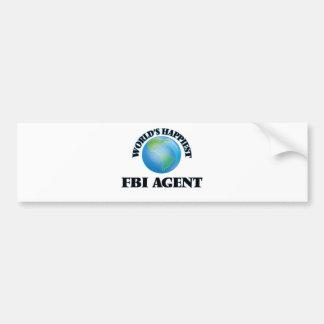 World's Happiest Fbi Agent Car Bumper Sticker