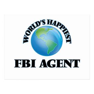 World's Happiest Fbi Agent Postcard