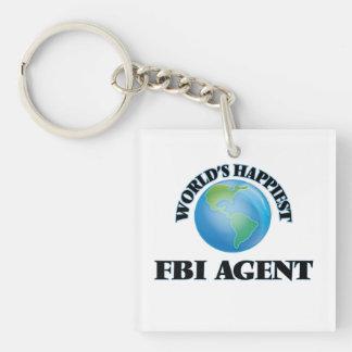 World's Happiest Fbi Agent Single-Sided Square Acrylic Keychain