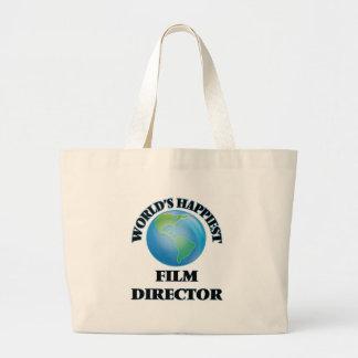 World's Happiest Film Director Jumbo Tote Bag
