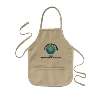 World's Happiest Film Production Manager Kids' Apron
