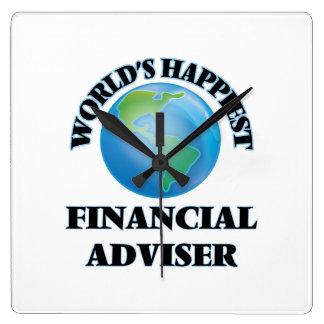 World's Happiest Financial Adviser Square Wallclocks