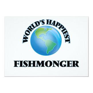 World's Happiest Fishmonger 5x7 Paper Invitation Card