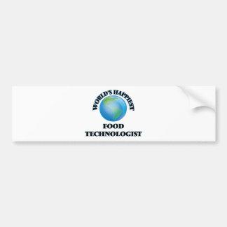 World's Happiest Food Technologist Car Bumper Sticker