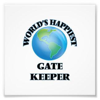 World's Happiest Gate Keeper Photo Print