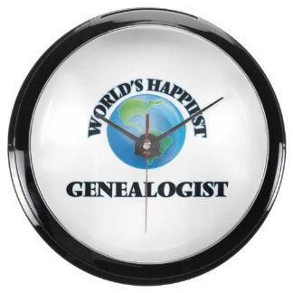 World's Happiest Genealogist Aquarium Clock