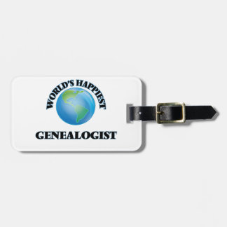 World's Happiest Genealogist Travel Bag Tags