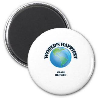 World's Happiest Glass Blower 2 Inch Round Magnet