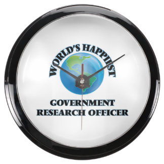 World's Happiest Government Research Officer Aqua Clock
