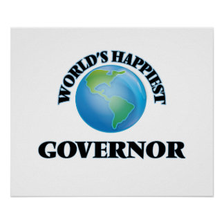 World's Happiest Governor Poster