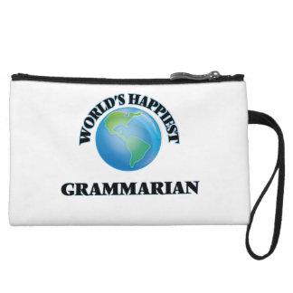 World's Happiest Grammarian Wristlet